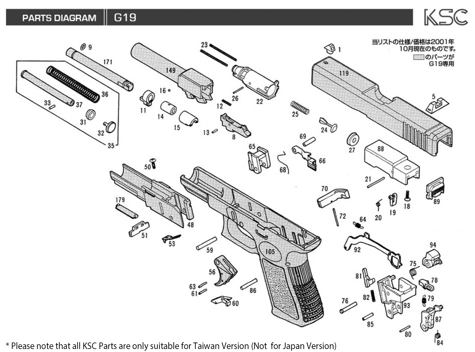 Glock 19 Assembly Diagram Not Lossing Wiring Parts Take Down Pinterest Photo Free Engine Image For