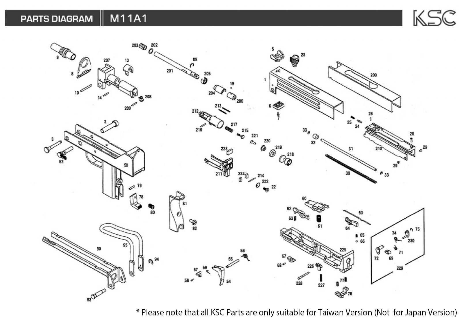 ksc m11a1 gbb parts