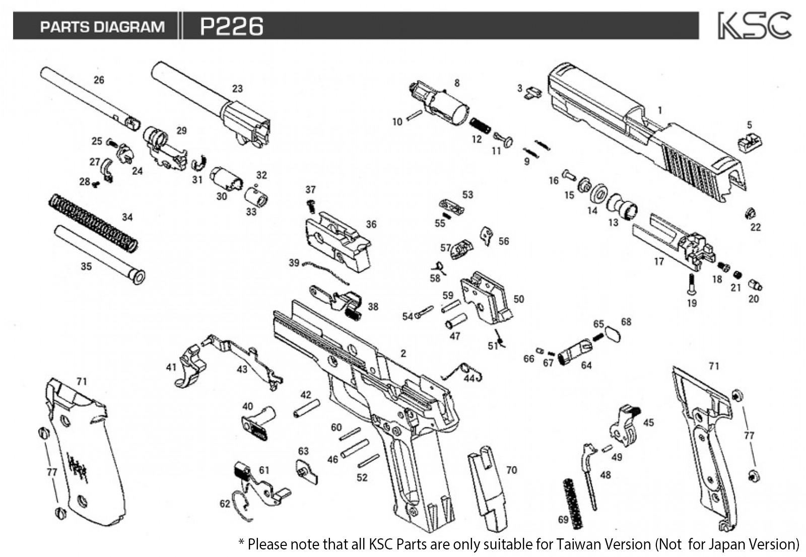 ksc p226 parts