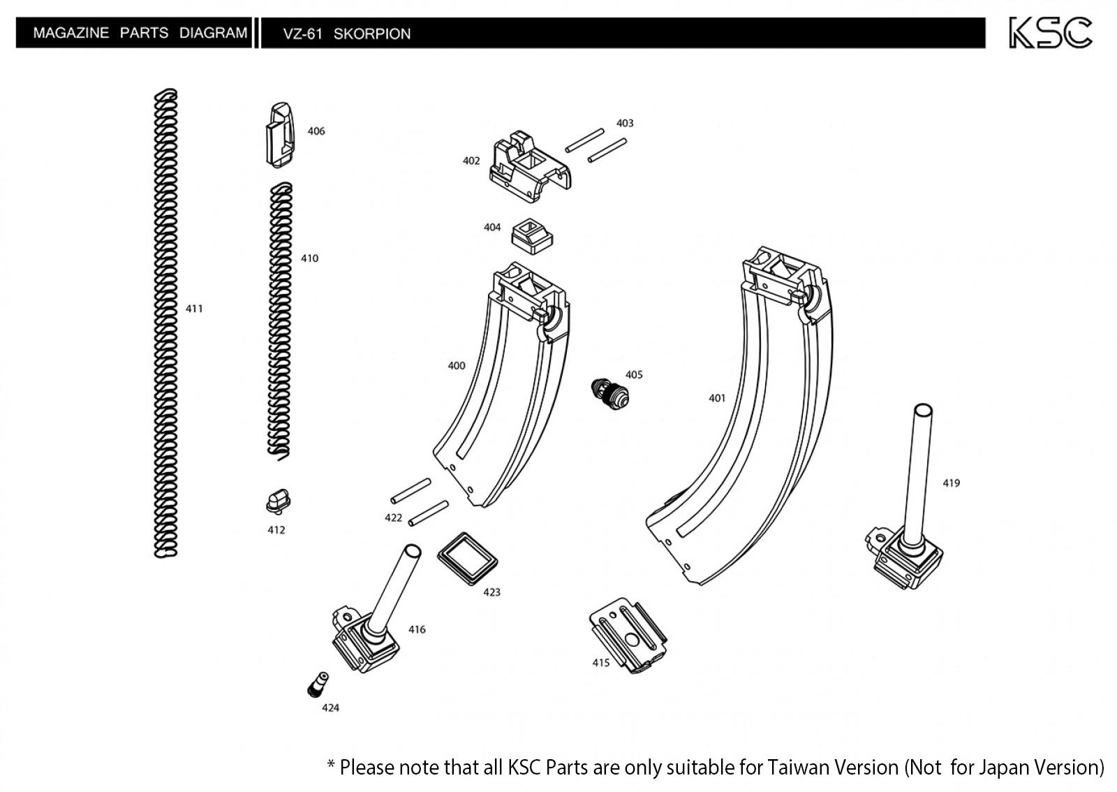 ksc vz61 parts