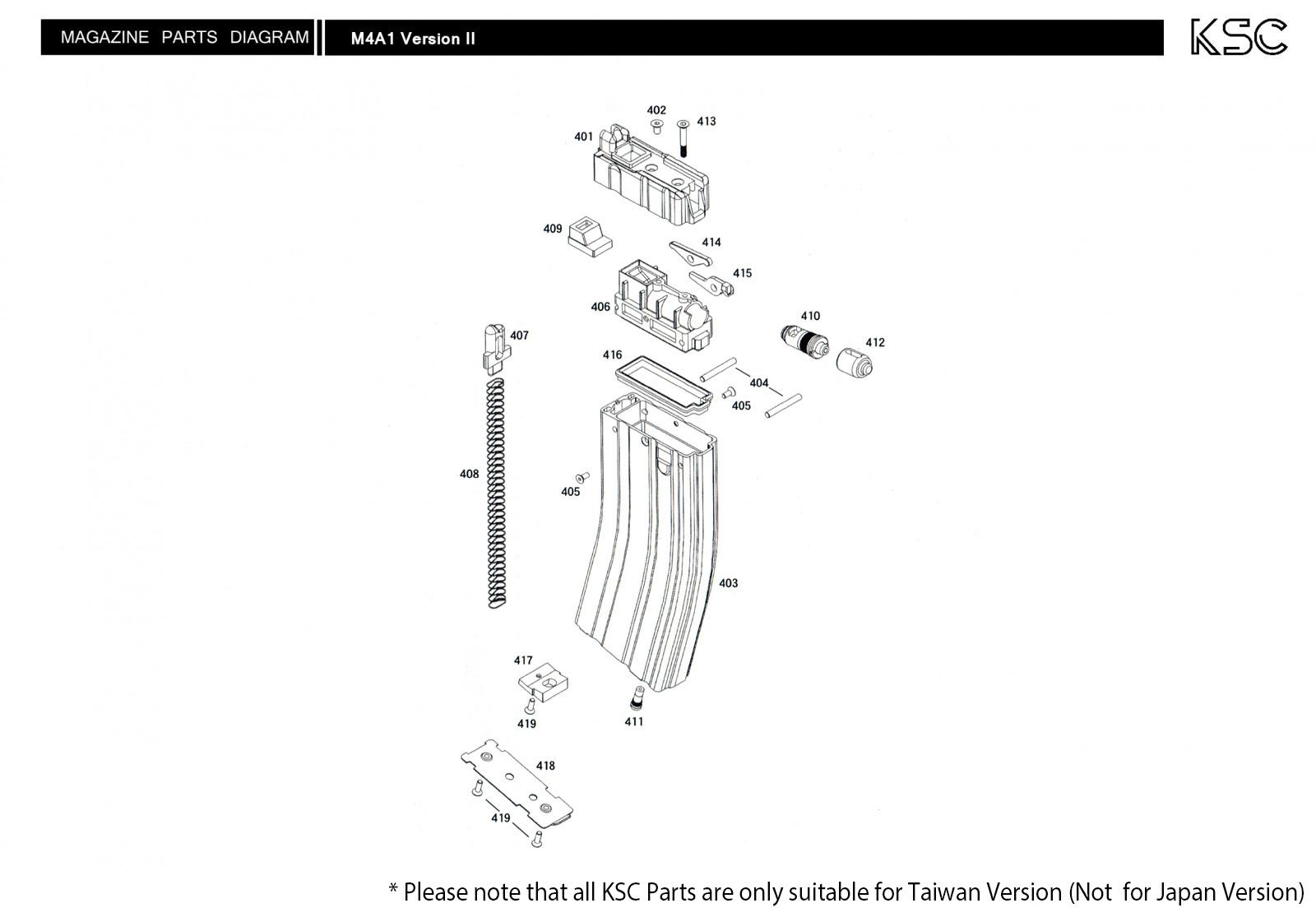 M4a1 Diagram Start Building A Wiring Glock Parts Version Ii Ksc Hk Rh Kwa Com M249